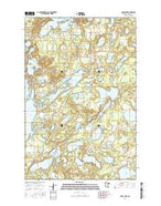Cross Lake Minnesota Current topographic map, 1:24000 scale, 7.5 X 7.5 Minute, Year 2016 from Minnesota Map Store