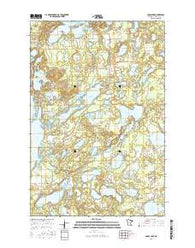 Cross Lake Minnesota Current topographic map, 1:24000 scale, 7.5 X 7.5 Minute, Year 2016