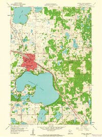 Detroit Lakes Minnesota Historical topographic map, 1:24000 scale, 7.5 X 7.5 Minute, Year 1959