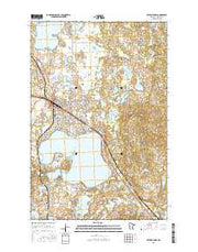 Detroit Lakes Minnesota Current topographic map, 1:24000 scale, 7.5 X 7.5 Minute, Year 2016 from Minnesota Maps Store