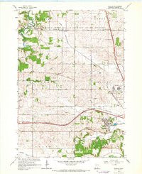 Douglas Minnesota Historical topographic map, 1:24000 scale, 7.5 X 7.5 Minute, Year 1966