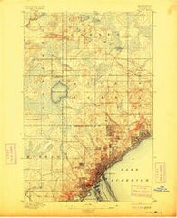 Duluth Minnesota Historical topographic map, 1:62500 scale, 15 X 15 Minute, Year 1895