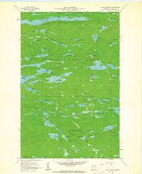 Eagle Mountain Minnesota Historical topographic map, 1:24000 scale, 7.5 X 7.5 Minute, Year 1960