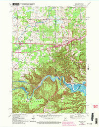 Esko Minnesota Historical topographic map, 1:24000 scale, 7.5 X 7.5 Minute, Year 1954