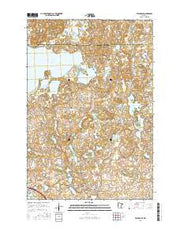Evansville Minnesota Current topographic map, 1:24000 scale, 7.5 X 7.5 Minute, Year 2016 from Minnesota Maps Store