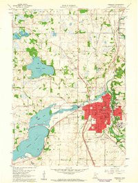 Faribault Minnesota Historical topographic map, 1:24000 scale, 7.5 X 7.5 Minute, Year 1960
