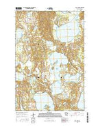 Flat Lake Minnesota Current topographic map, 1:24000 scale, 7.5 X 7.5 Minute, Year 2016 from Minnesota Map Store
