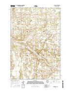 Flensburg Minnesota Current topographic map, 1:24000 scale, 7.5 X 7.5 Minute, Year 2016 from Minnesota Map Store