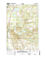 Fort Ripley Minnesota Current topographic map, 1:24000 scale, 7.5 X 7.5 Minute, Year 2016 from Minnesota Map Store