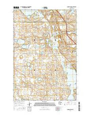 Fourmile Lake Minnesota Current topographic map, 1:24000 scale, 7.5 X 7.5 Minute, Year 2016 from Minnesota Maps Store