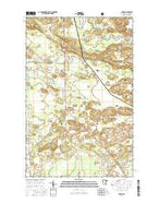 Gheen Minnesota Current topographic map, 1:24000 scale, 7.5 X 7.5 Minute, Year 2016 from Minnesota Map Store
