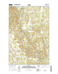 Graff Minnesota Current topographic map, 1:24000 scale, 7.5 X 7.5 Minute, Year 2016