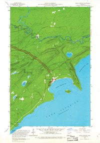 Grand Portage Minnesota Historical topographic map, 1:24000 scale, 7.5 X 7.5 Minute, Year 1959