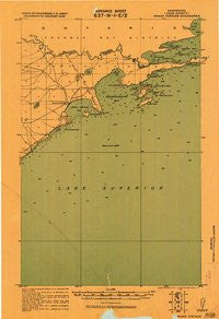 Grand Portage Minnesota Historical topographic map, 1:62500 scale, 15 X 15 Minute, Year 1919