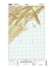 Grand Portage Minnesota Current topographic map, 1:24000 scale, 7.5 X 7.5 Minute, Year 2016 from Minnesota Maps Store