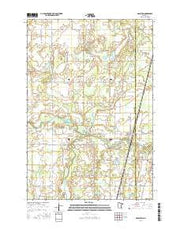 Grasston Minnesota Current topographic map, 1:24000 scale, 7.5 X 7.5 Minute, Year 2016 from Minnesota Maps Store