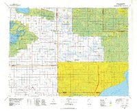 Grygla Minnesota Historical topographic map, 1:100000 scale, 30 X 60 Minute, Year 1977
