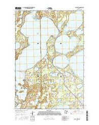 Gull Lake Minnesota Current topographic map, 1:24000 scale, 7.5 X 7.5 Minute, Year 2016