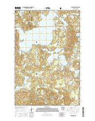 Hackensack Minnesota Current topographic map, 1:24000 scale, 7.5 X 7.5 Minute, Year 2016
