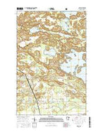 Haley Minnesota Current topographic map, 1:24000 scale, 7.5 X 7.5 Minute, Year 2016 from Minnesota Map Store