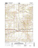 Hayward Minnesota Current topographic map, 1:24000 scale, 7.5 X 7.5 Minute, Year 2016 from Minnesota Map Store