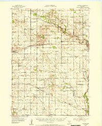 Hayward Minnesota Historical topographic map, 1:62500 scale, 15 X 15 Minute, Year 1954