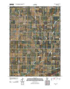 Hills NE Minnesota Historical topographic map, 1:24000 scale, 7.5 X 7.5 Minute, Year 2010