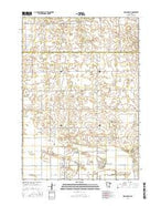 Hollandale Minnesota Current topographic map, 1:24000 scale, 7.5 X 7.5 Minute, Year 2016 from Minnesota Map Store