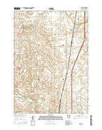 Hope Minnesota Current topographic map, 1:24000 scale, 7.5 X 7.5 Minute, Year 2016 from Minnesota Map Store