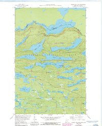 Hungry Jack Lake Minnesota Historical topographic map, 1:24000 scale, 7.5 X 7.5 Minute, Year 1959
