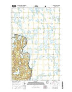 Jackfish Lake Minnesota Current topographic map, 1:24000 scale, 7.5 X 7.5 Minute, Year 2016 from Minnesota Map Store