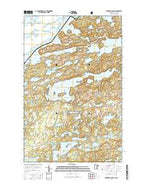 Kekekabic Lake Minnesota Current topographic map, 1:24000 scale, 7.5 X 7.5 Minute, Year 2016 from Minnesota Map Store