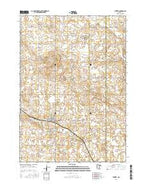 Kiester Minnesota Current topographic map, 1:24000 scale, 7.5 X 7.5 Minute, Year 2016 from Minnesota Map Store