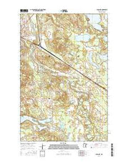 La Prairie Minnesota Current topographic map, 1:24000 scale, 7.5 X 7.5 Minute, Year 2016 from Minnesota Maps Store
