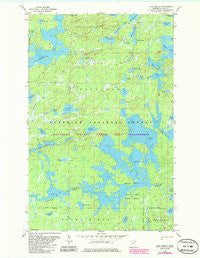 Lake Insula Minnesota Historical topographic map, 1:24000 scale, 7.5 X 7.5 Minute, Year 1981