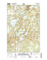 Lake Ada Minnesota Current topographic map, 1:24000 scale, 7.5 X 7.5 Minute, Year 2016