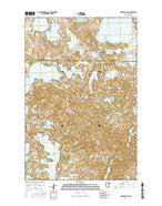 Lake Franklin Minnesota Current topographic map, 1:24000 scale, 7.5 X 7.5 Minute, Year 2016 from Minnesota Map Store
