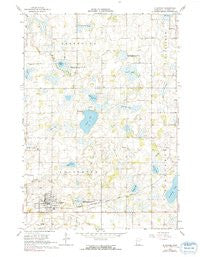 Le Center Minnesota Historical topographic map, 1:24000 scale, 7.5 X 7.5 Minute, Year 1966