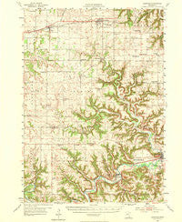 Lewiston Minnesota Historical topographic map, 1:62500 scale, 15 X 15 Minute, Year 1954