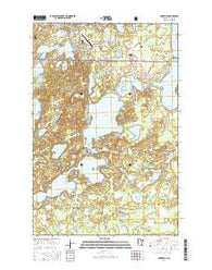 Longville Minnesota Current topographic map, 1:24000 scale, 7.5 X 7.5 Minute, Year 2016