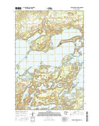 Lower Whitefish Lake Minnesota Current topographic map, 1:24000 scale, 7.5 X 7.5 Minute, Year 2016
