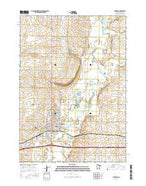 Luverne Minnesota Current topographic map, 1:24000 scale, 7.5 X 7.5 Minute, Year 2016 from Minnesota Map Store