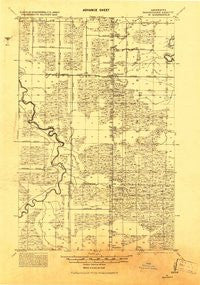 M Minnesota Historical topographic map, 1:62500 scale, 15 X 15 Minute, Year 1919