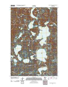 Many Point Lake Minnesota Historical topographic map, 1:24000 scale, 7.5 X 7.5 Minute, Year 2011