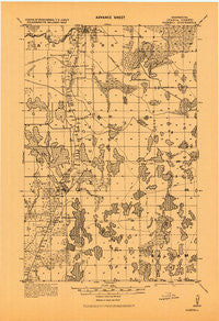 Marcell Minnesota Historical topographic map, 1:62500 scale, 15 X 15 Minute, Year 1919