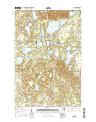 Mildred Minnesota Current topographic map, 1:24000 scale, 7.5 X 7.5 Minute, Year 2016