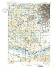 Minneapolis Minnesota Historical topographic map, 1:62500 scale, 15 X 15 Minute, Year 1901
