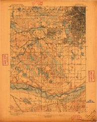 Minneapolis Minnesota Historical topographic map, 1:62500 scale, 15 X 15 Minute, Year 1896