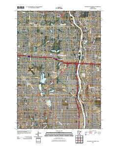 Minneapolis North Minnesota Historical topographic map, 1:24000 scale, 7.5 X 7.5 Minute, Year 2010