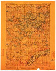 Minnetonka Minnesota Historical topographic map, 1:62500 scale, 15 X 15 Minute, Year 1907
